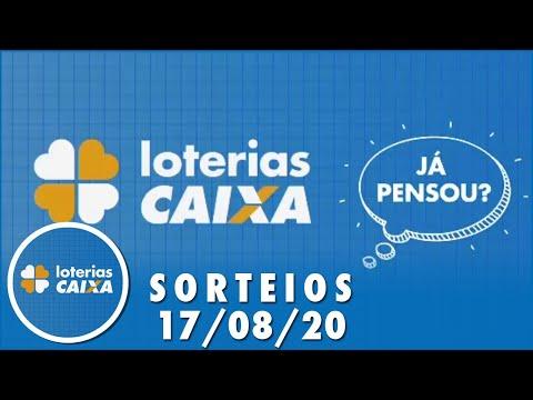 Loterias Caixa: Quina e Lotofácil 17/08/2020