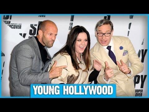 SPY's Melissa McCarthy, Jason Statham, Rose Byrne, Miranda Hart, & Paul Feig!