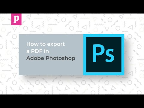 Adobe Photoshop Tutorial - How To Export A PDF