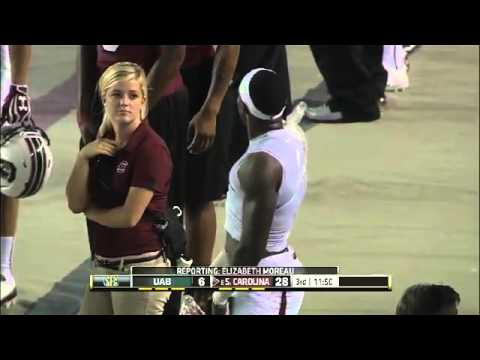 South Carolina trainer staring and craving Bruce Ellington