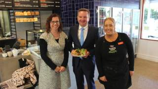 Chris Bowen visit to Adelaide