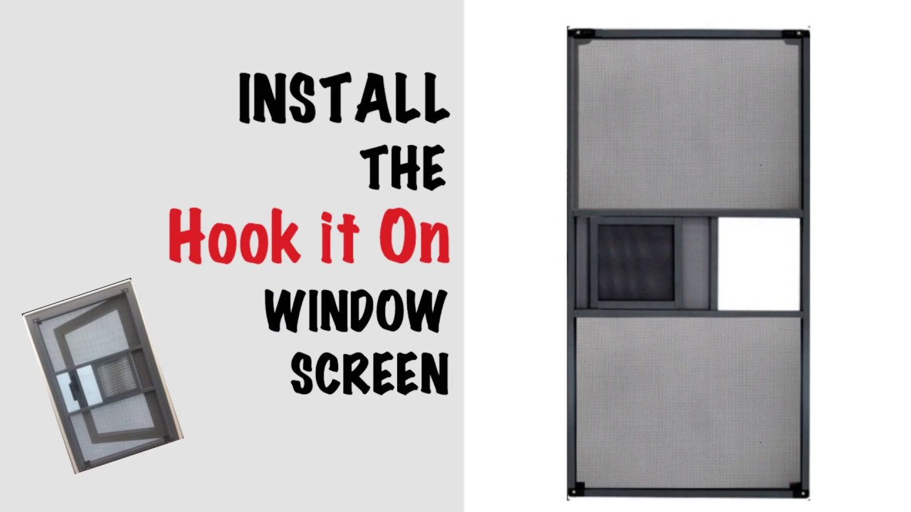How To Install A Hook It On Window Security Screen Youtube