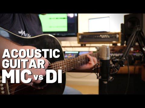 Recording Acoustic Guitar: Mic vs DI