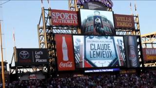 alumni game colorado avalanche detroit red wings avs players introduction