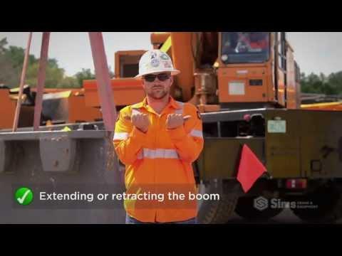 Basic Crane Hand Signals | Sims Crane Minute