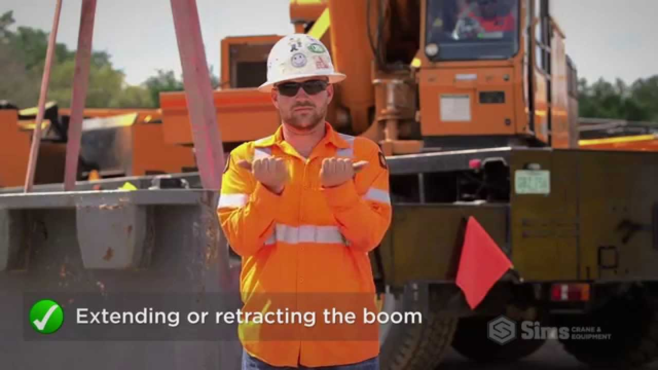 Download Basic Crane Hand Signals | Sims Crane Minute