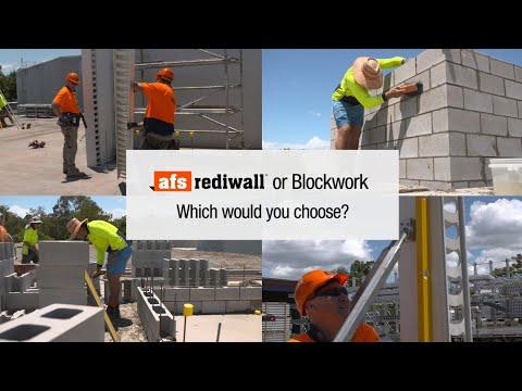 AFS Rediwall® Vs Blockwork Stair Core Challenge