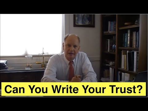 Can You Write Your Own Trust