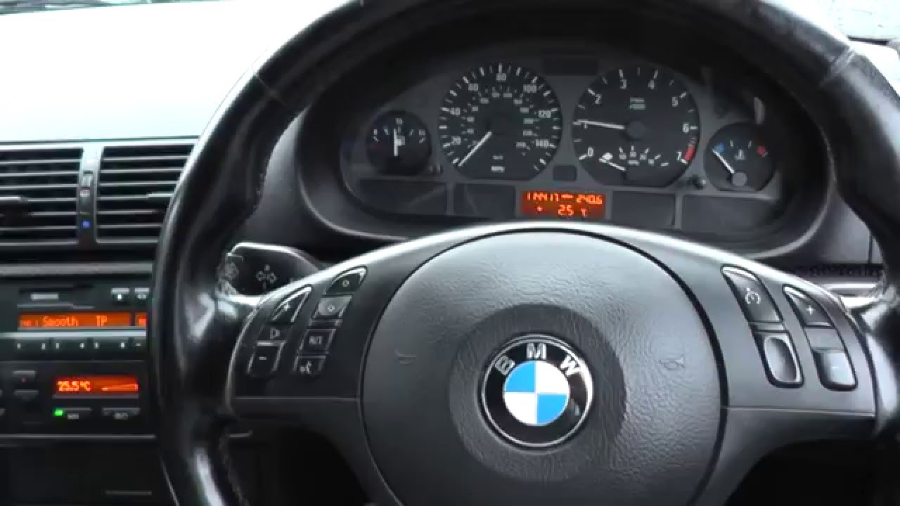Bmw E46 Dash Warning Lights Ignition Engine Start Youtube