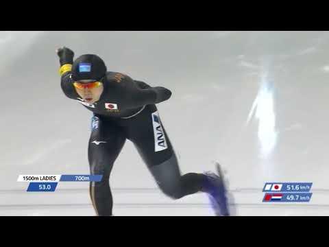 Miho Takagi 1500m - 1:51.79 (NR). WC3 Calgary 2017/2018