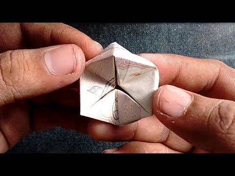 HOW TO MAKE FIDGET INFINITE FLEXAGON WITH 50 RUPEES NOTE OR PAPER | #SuryaCraft