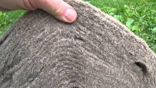 видео Межвенцовый утеплитель: джут, джутовое полотно, лента, волокно