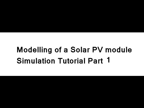 Modeling of a Solar PV module in MATLAB SImulink