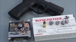 Winchester 180 JHP VS Sig Sauer 165 VCrown