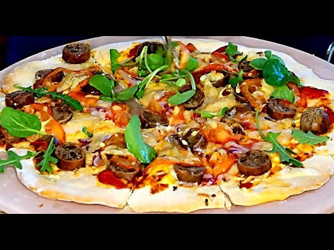 How to make Tasty Vegan Pizza for 3 Quickly | Healthy Ingredients – Quick Recipe