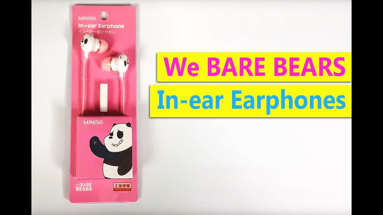 1a35896765b We bare bears earphones from Japan - YouTube