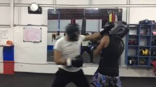 My First Boxing Sparring with Geremi