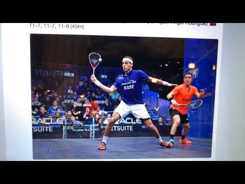 Mohamed ElShorbagy Over Miguel Angel Rodriguez In Oracle NetSuite Open Squash 2018 Men's QFs