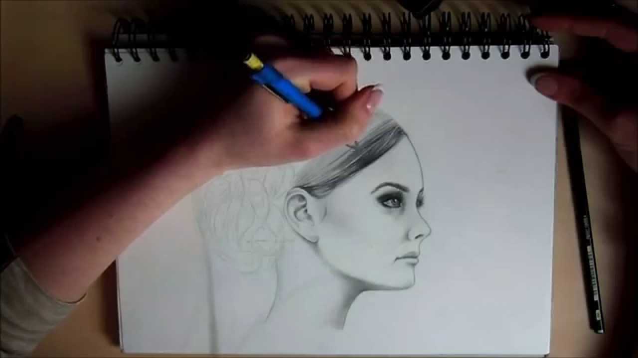 Haare zeichnen frau