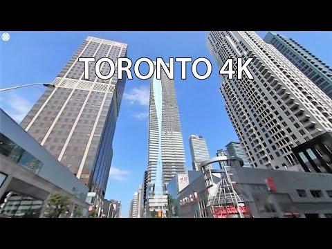 Driving Downtown 360 - Bloor Street - Toronto Canada
