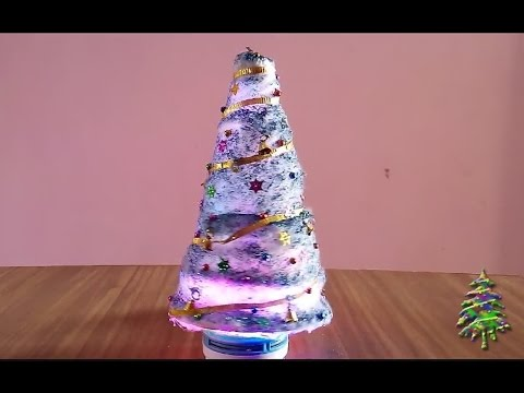 how to make a bottle christmas tree