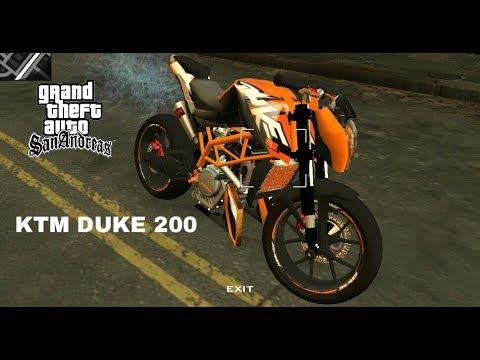 Install KTM DUKE 200 Bike Mod On Gta San Andreas (android)