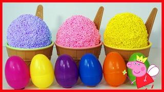 冰淇淋雪花泥黏土奇趣蛋玩具 有粉紅豬小妹小豬佩琪在裡面! 北美玩具