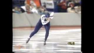 Winter Olympic Games Calgary 1988 - 3 km Van Gennip (WR) - Nemeth-Hunyady