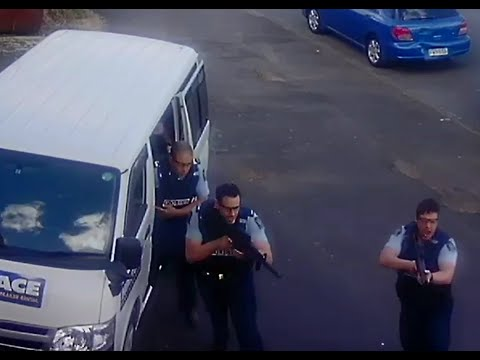 ARMED NZ POLICE raid us with excessive numbers on false info and have to let me go!