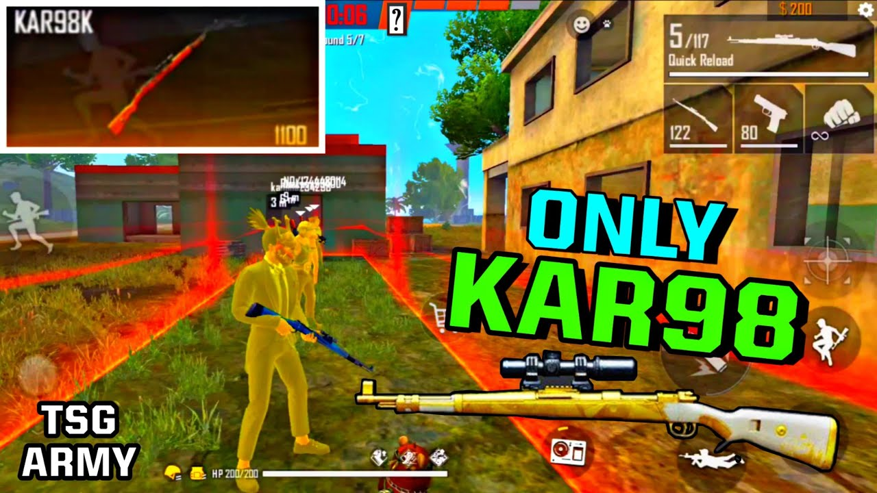 FreeFire || ONLY KAR98 CHALLENGE IN CLASH SQUAD MODE WITH RANDOM PLAYER || LIVE REACTION