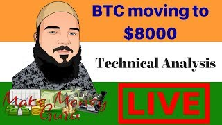 BTC Moving to $8000 Technical Analysis - BTC and Altcoin Market Update.