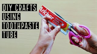 5 Minute Crafts using Old Toothpaste Tube | Reuse Empty Packets | Best Out Of Waste | MashDIYzone 29