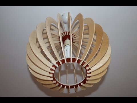CNC project -  lamp. Wooden, plywood. DIY project.