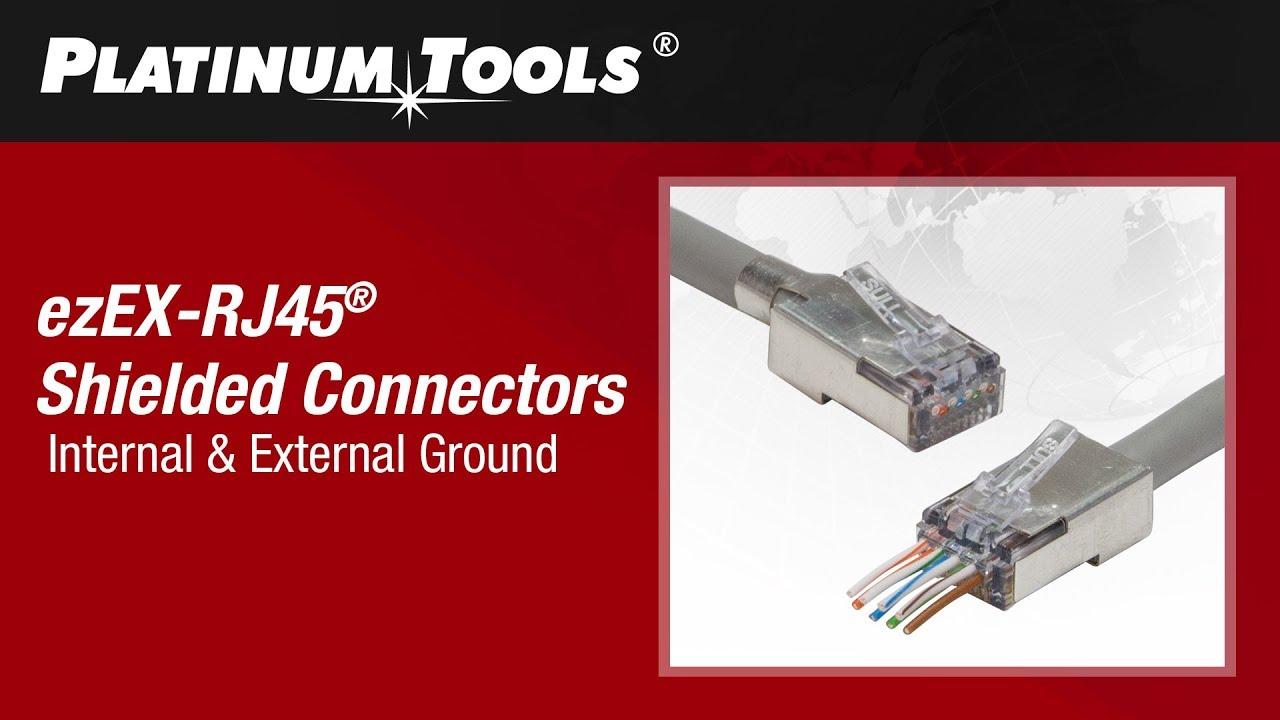 medium resolution of how to terminate shielded ezex rj45 connectors