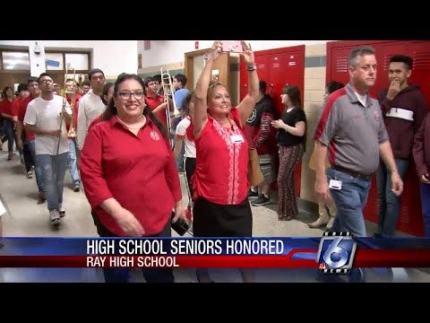 Ray High School rolls the drums for seniors, new principal