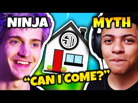 NINJA WANTS TO JOIN MYTH AT THE TSM GAMING HOUSE | Fortnite Daily Funny Moments Ep.66