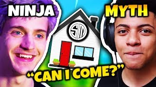 NINJA WANTS TO JOIN MYTH AT THE TSM GAMING HOUSE   Fortnite Daily Funny Moments Ep.66