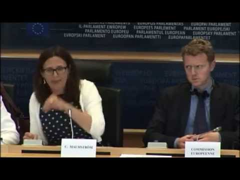 UKIP MEP Janice Atkinson questions Commissioner Malmström on migration and the EAW