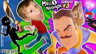 Scary Hello Neighbor Dream: Shadow Man! Fgteev Butt Kicked! Coke & Mentos Experiment Basement Beta 3