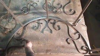 Ручная ковка, рисунок за одну минуту,(группа вконтакте https://vk.com/clubhardzei Любой вид сварных изделий из металла! Ковка! Сварные работы! Сделаем прак..., 2016-04-18T18:42:14.000Z)