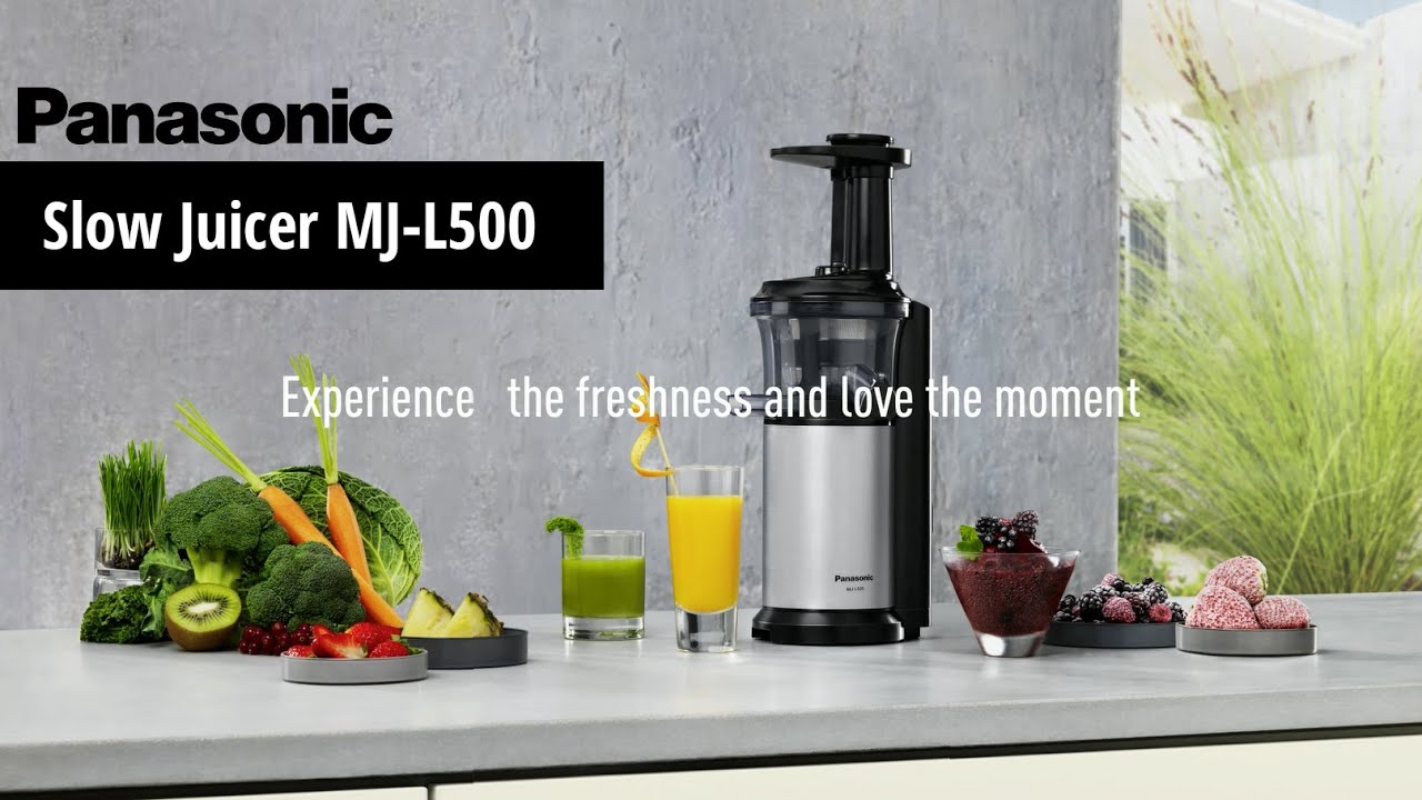 Panasonic Slow Juicer MJ-L500 for rich-tasting highly nutritious juices - YouTube
