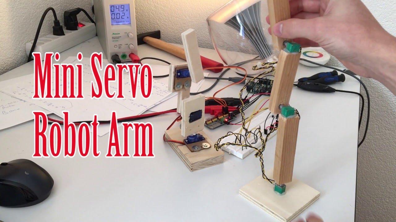 Mini robot arm with arduino code youtube