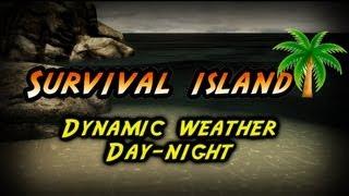 Survival island |Minecraft |Dynamic Weather Day-Night Test|UDK|by Konsordo