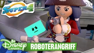 SUPER 4 - Clip: Roboterangriff | Disney Channel