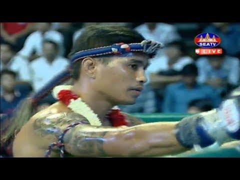 Meas Chanmean vs Senkhom(thai), Khmer Boxing Seatv 26 May 2018, Kun Khmer vs Muay Thai