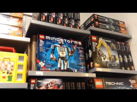 Tour of the Lego Store at King of Prussia Mall PA - YouTube