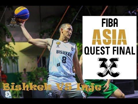 Inje(KOR) Vs Bishkek(KGZ) -Men's Full Game-FIBA 3x3 Asia Quest Final Male, Maldives 2019