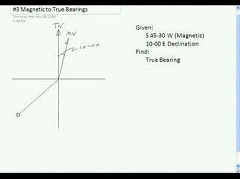 Survey Point #3 Magnetic to True Bearings