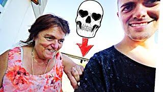MAMA reagiert auf MEIN ERSTES TATTOO!! ☠️ (schock of doom...)