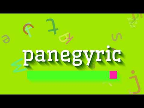 "How to say ""panegyric""! (High Quality Voices)"